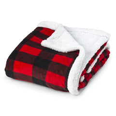 Plush Coral Fleece Plaid Baby Blanket