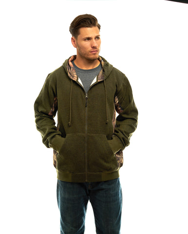 Men's Mossy Oak Cambrillo Full Zip Hoodie - Trailcrest.com