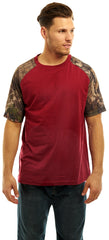 Men's Mossy Oak Raglan Short Sleeve Cotton T-Shirt - Trailcrest.com