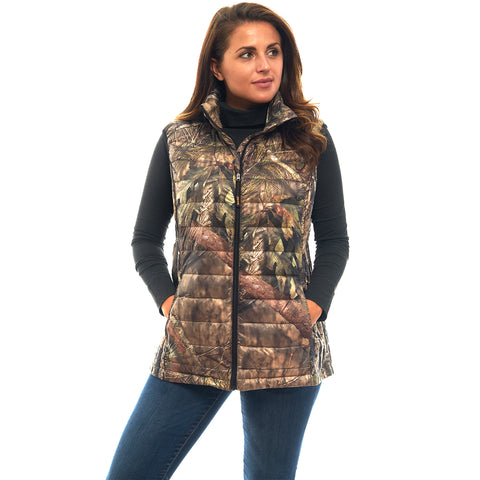 Women's Mossy Oak Ultra Thermic Down Filled Quilted Vest