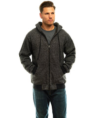 Men's Heather Thermal Lined Cambrillo Full Zip Hoodie