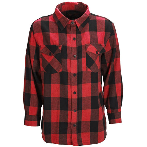 Men's Cotton Heavyweight Flannel Plaid Work Shirt- Tall - Trailcrest.com
