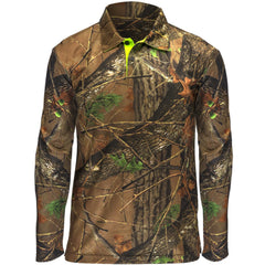 Men's Camo Pique Long Sleeve Shirt - Trailcrest.com