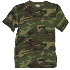 Kids Camo All Cotton Short Sleeve T-Shirt - Trailcrest.com