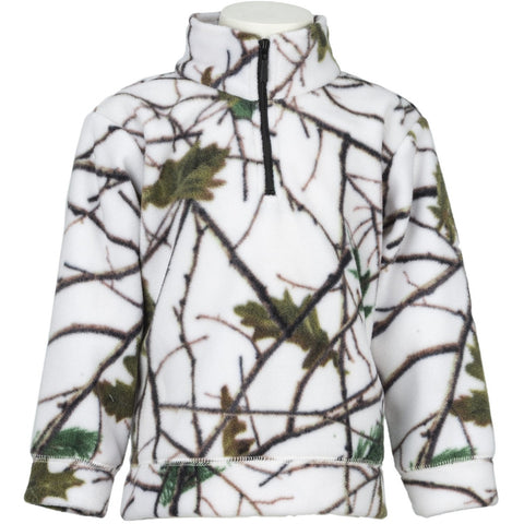 Infant Snow Forest Camo Everyday Easy 1/4 Zip Jacket - Trailcrest.com