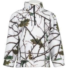 Toddler Snow Forest Camo Everyday Easy 1/4 Zip Jacket - Trailcrest.com