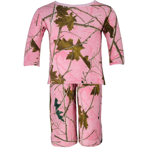 Toddler Pink Forest Camo Long Tee And Pants Combo - Trailcrest.com