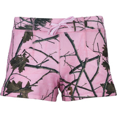 Women's Camo 4-Way Stretch Active Dolphin Shorts - Trailcrest.com