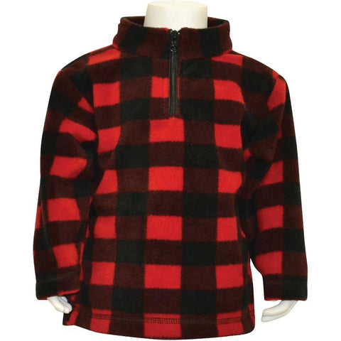 Infant Plaid Everyday Easy 1/4 Zip Pullover - Trailcrest.com