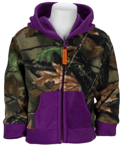 Toddler Neon Pink Camo Everyday Easy Hooded Jacket - Trailcrest.com
