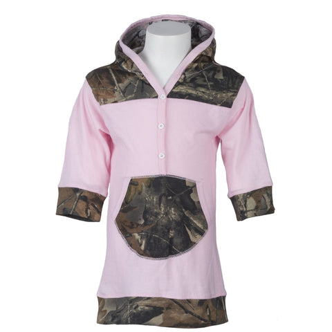 "Toddler Pink Camo ""Dress Me Up""  Hooded Tunic - Trailcrest.com"