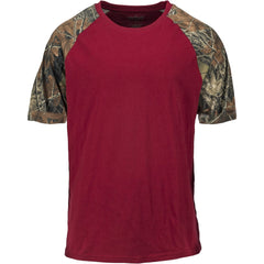 Men's Camo Raglan Cotton Short Sleeve T-Shirt - Trailcrest.com