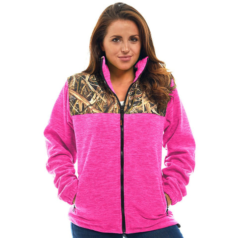 Women's Mossy Oak Full Zip C-Max Fleece Jacket