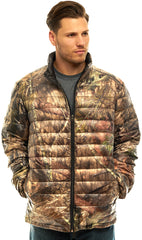 Men's Mossy Oak Lightweight Down Puffer Jacket - Trailcrest.com