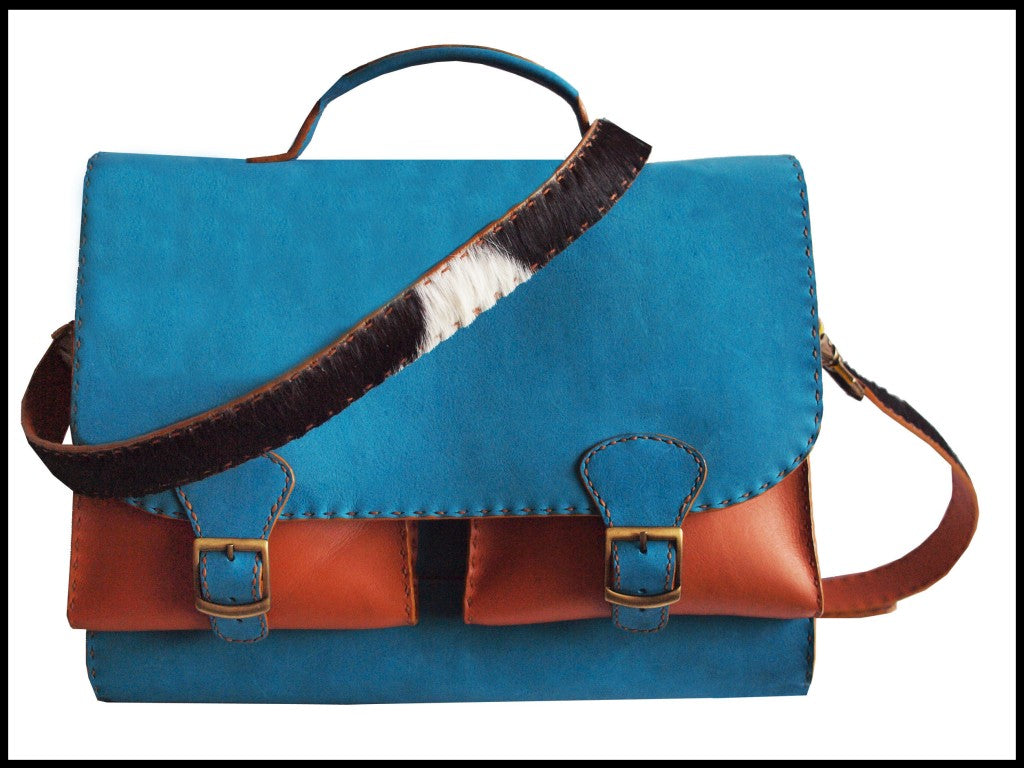 MGMT Leather Bag front angle