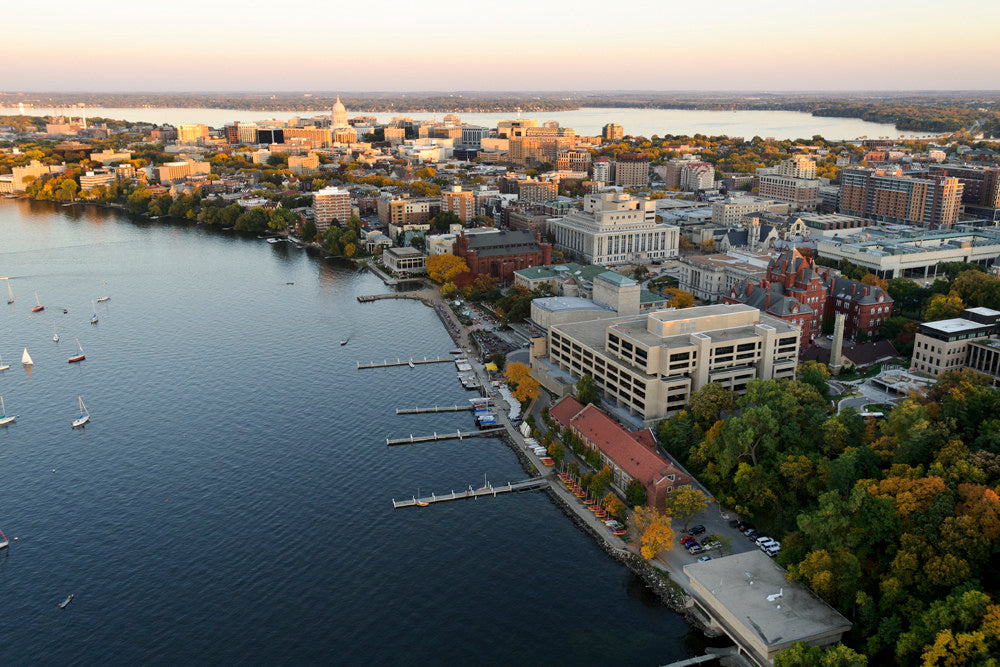 Campus and downtown Madison, Wisconsin