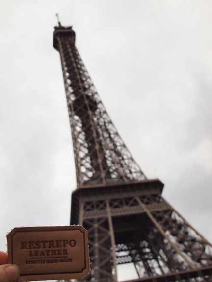 Restrepo Leather at the Eiffel Tower