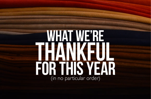 What we're thankful for this year