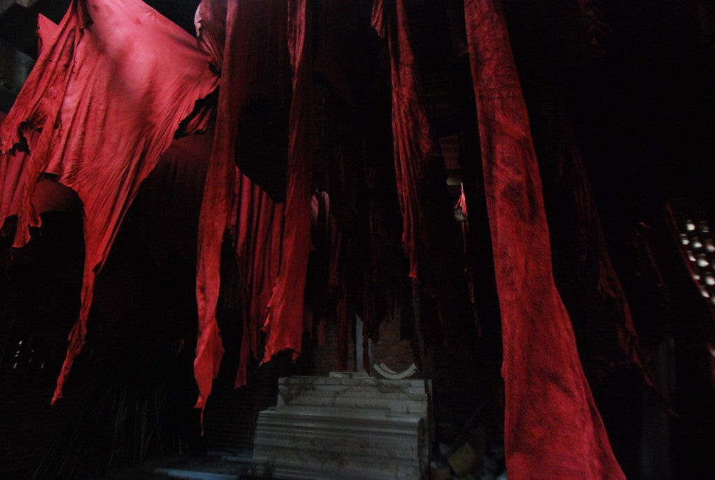 red leather tanning