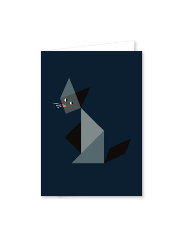 TANGRAM folded cards - Cat