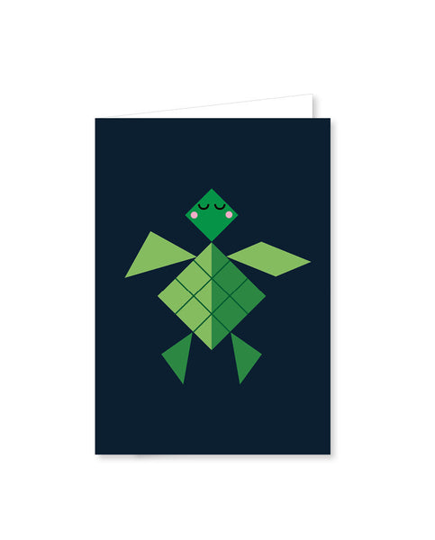 TANGRAM folded cards - Turtle
