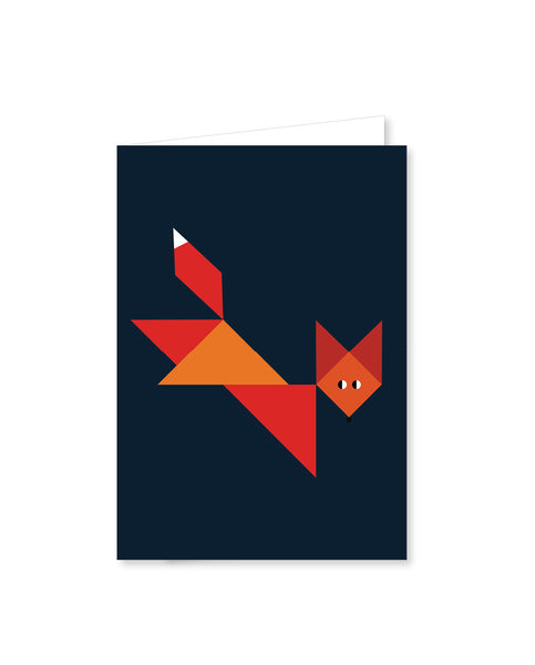 TANGRAM folded cards - Fox