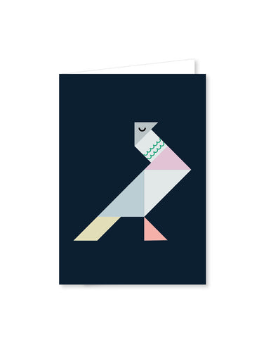 TANGRAM folded cards - Dove
