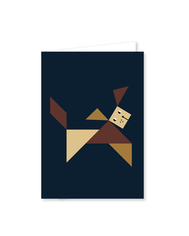 TANGRAM folded cards - Dog