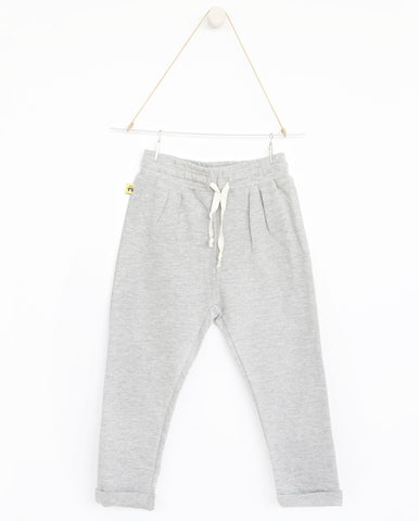 AUGUST Relaxed pants - Plain grey