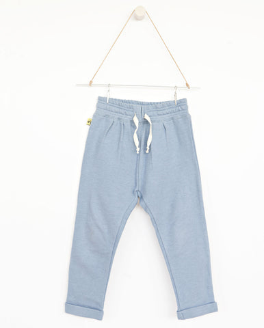AUGUST Relaxed pants - Dusty blue