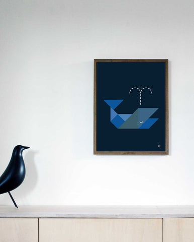 TANGRAM poster - Whale