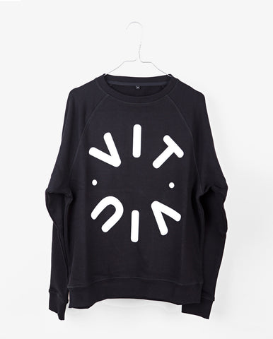 TESSA logo sweat - Black