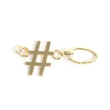Hashtag Linkable Charm in Gold