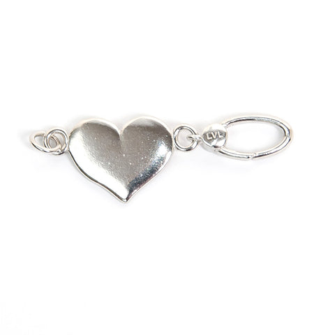 La Vita Linx Heart Linkable Charm in Silver