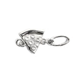 La Vita Linx Pizza Linkable Charm in Silver