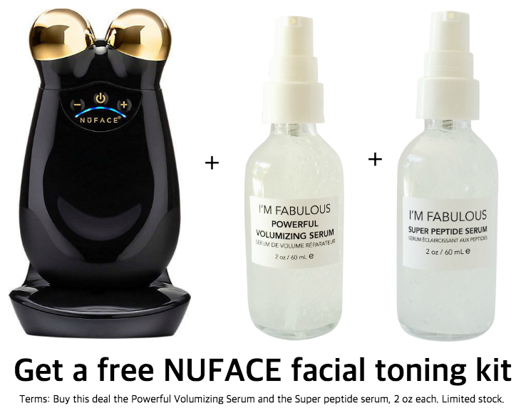 ANTI-AGING SUPER DEAL OF THE MONTH WITH FREE NUFACE FACIAL TONING SYSTEM