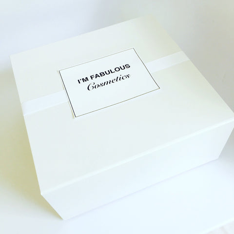 White modern gift wrapping