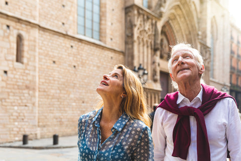 older couple exploring their city