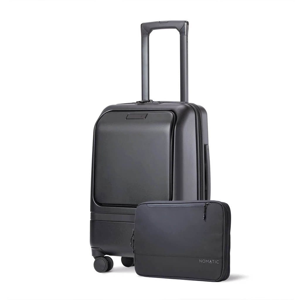 4. Nomatic Carry-On Pro rolling suitcase with 4 wheels