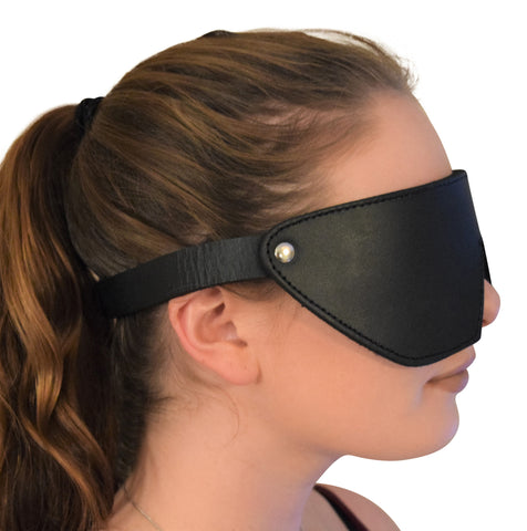 Genuine Leather Fleece-Lined Eye Mask / Blindfold