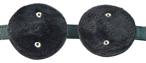 Genuine Leather Fleece-Lined Fully Adjustable Eye Mask / Blindfold