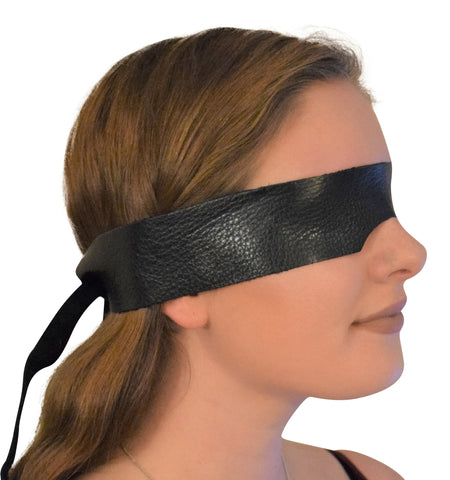 Genuine Calfskin Leather Eye Mask / Blindfold