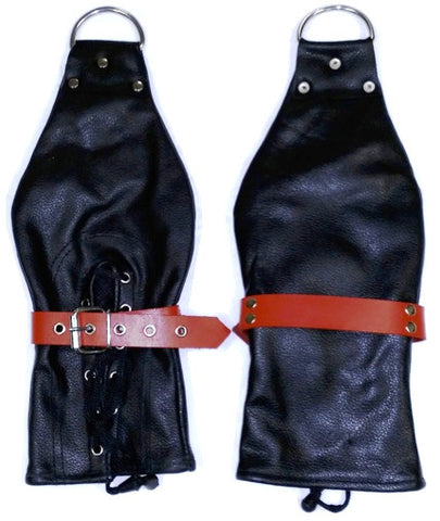 Leather Bondage Restraint Mitts