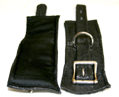 Exotic Ostrich Leather Cuff Set