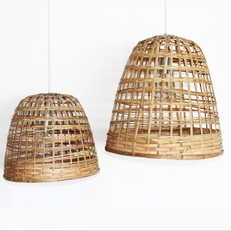 bamboo pendant lighting. cloche bamboo pendant lighting