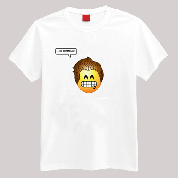 Luke Hemmings 5SOS Emoji T Shirt - 210 Kreations  - 1