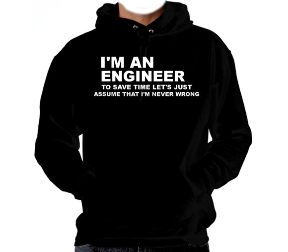 I'm an Engineer Hooded Sweatshirt - 210 Kreations  - 1