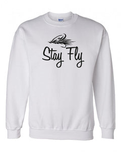 Stay Fly Fishing Crewneck Sweatshirt - 210 Kreations  - 1