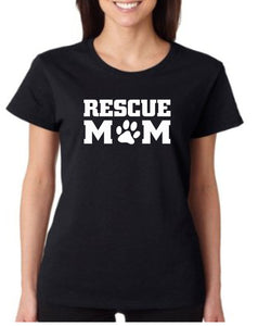 Rescue Mom Dog T Shirt - 210 Kreations  - 1