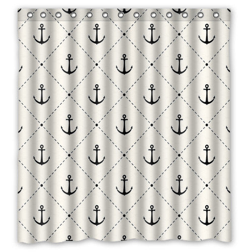 Unique Anchor Shower Curtain - 210 Kreations